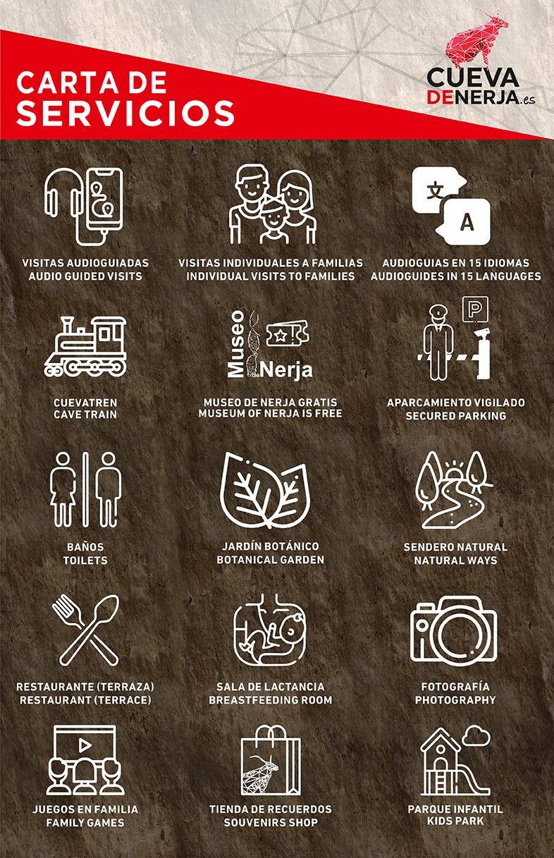 servicios que ofrece Cueva de Nerja