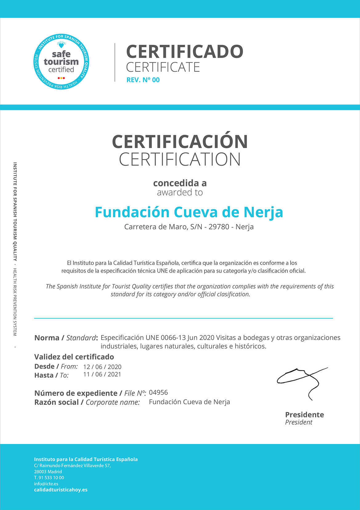 Turismo Seguro - Safe Tourism Certified