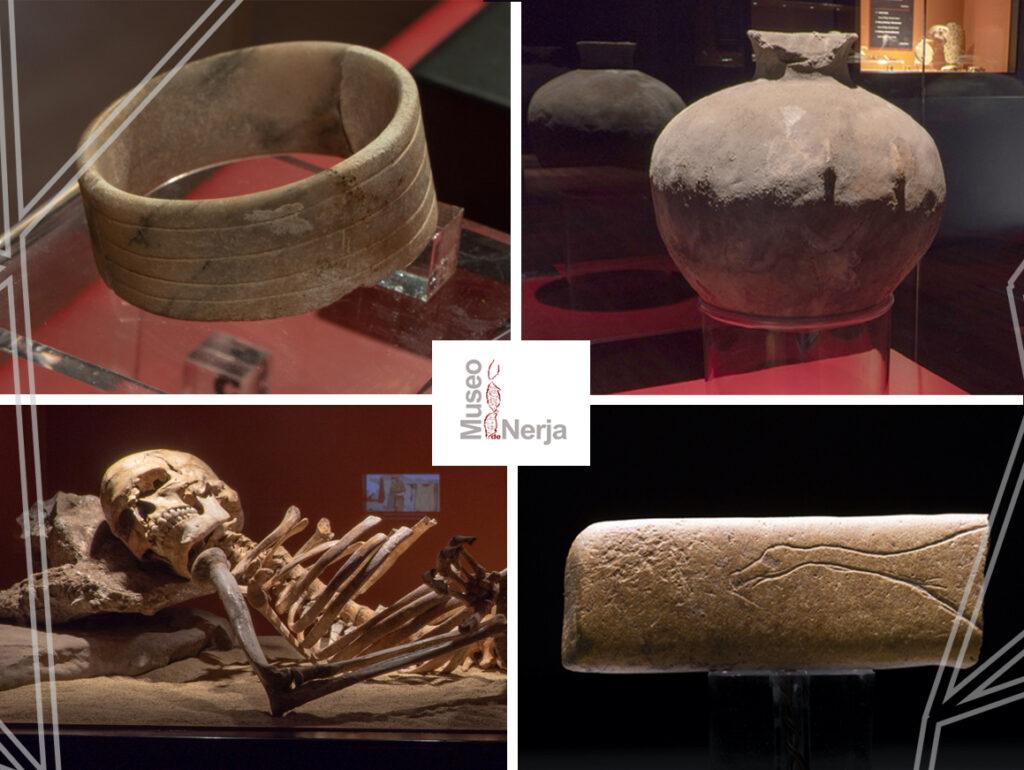 Hallazgos de la Cueva de Nerja expuestos en el Museo de Nerja