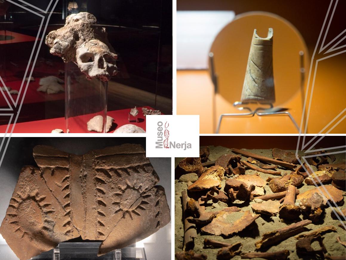 Descubrimientos de la cueva de nerja en el museo de nerja